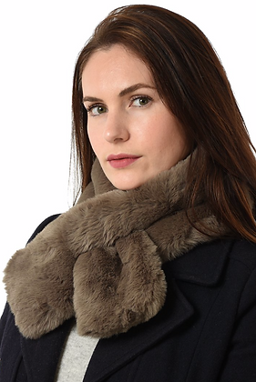 Faux Fur Tippet Taupe
