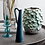 Thumbnail: Green metal vase