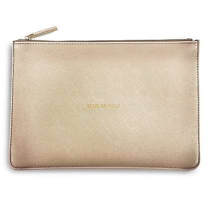 GOOD AS GOLD PERFECT POUCH - METALLIC GOLD