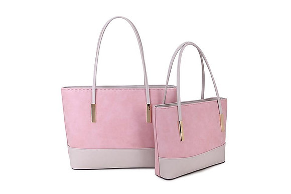 PINK Two Tone Shopper - LARGE