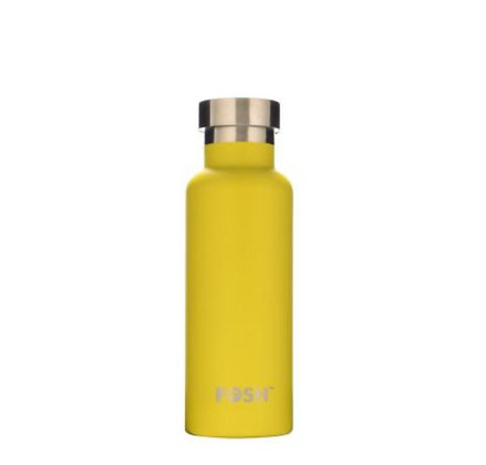 Stainless Steel Drink Bottle - BUTTERFLY YELLOW GIFT BOXED