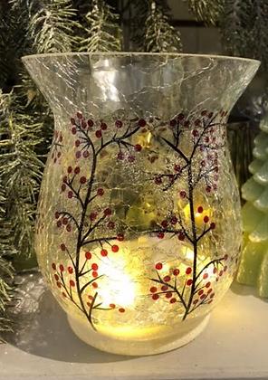 LED Holly tree vase