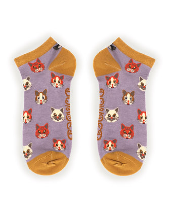 POWDER Pussy Cat Trainer Socks