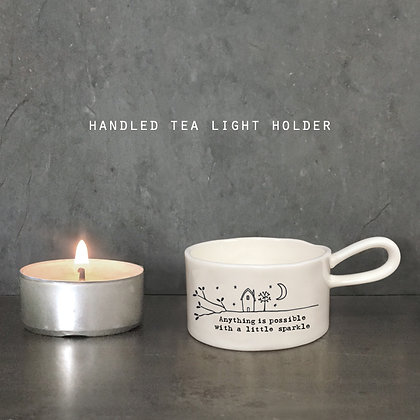 East of India Anything is Possible Handled Tealight Holder