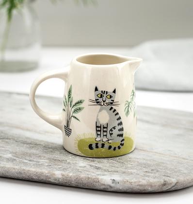 Hannah Turner - Handmade Ceramic Cat small jug