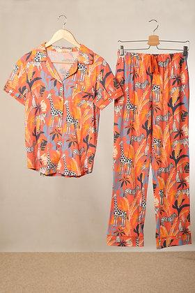 Safari Print PJs Coral