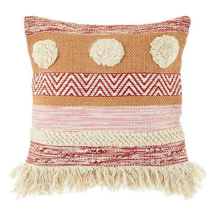 Nevada Pink Woven Stripe Cushion