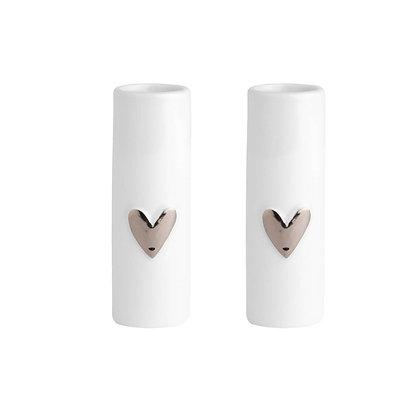 Rader set 2 mini heart vases