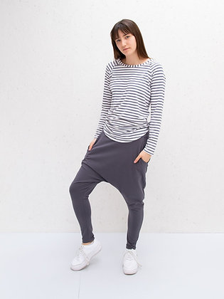 CHALK Tasha Stripe T-shirt in Charcoal