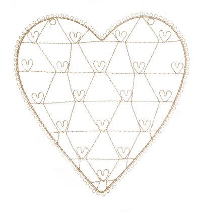 Large Vintage Heart Holder