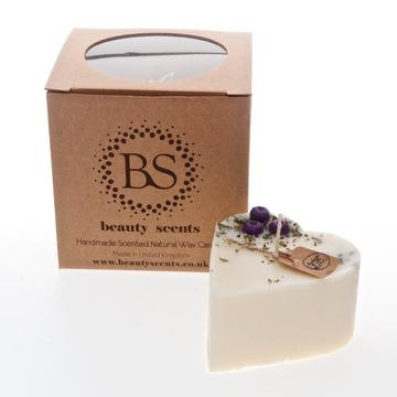 Blueberries Small Heart Candle - Lily of the Valley