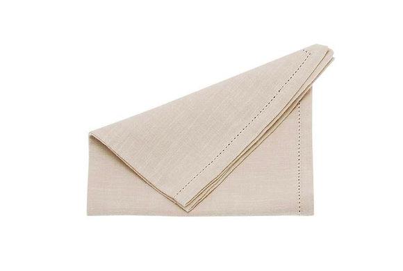 Set 4 cotton chambray napkins