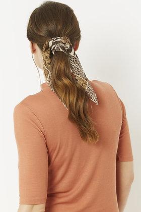 Silk Blend Hair Scarf - SNAKE PRINT