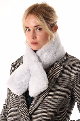 Faux Fur Tippet Ice Grey
