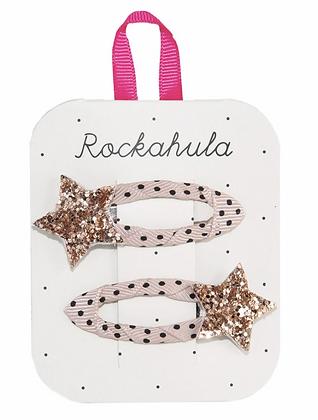 Rockahula - Star Burst Glitter Clips Gold