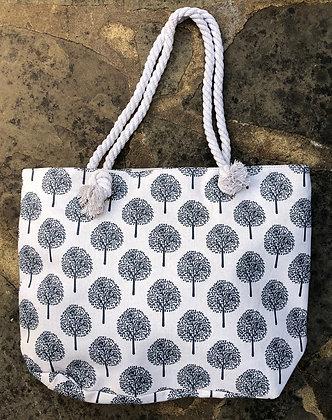 EQUILIBRIUM Tree Of Life Tote Bag-Cream