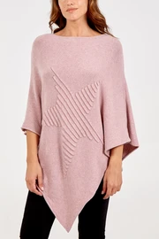 NOVA Star Poncho-Dusty Pink