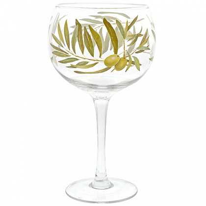 Olives Gin Copa Glass