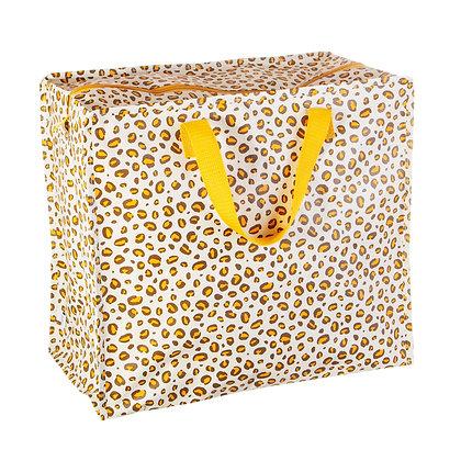 Natural Leopard Print Storage Bag