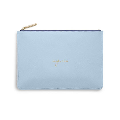 KATIE LOXTON COLOUR POP PERFECT POUCH  BE YOU TIFUL in SKY BLUE