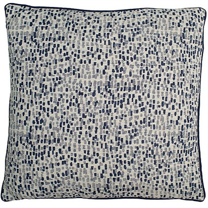 navy dash cushion feather filled