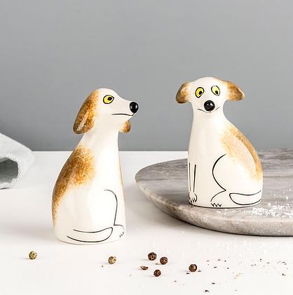 Hannah Turner - Handmade Ceramic Scruffy Dog Salt And Pepper Shakers
