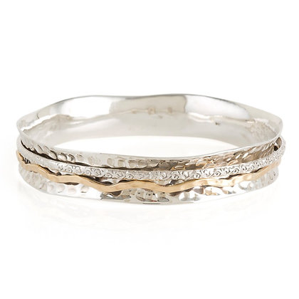 Charlottes Web Aura Magic Silver Spinning Bangle L