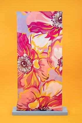 Poppy Print Scarf Fuschia