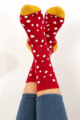 Red Spot Bamboo Socks