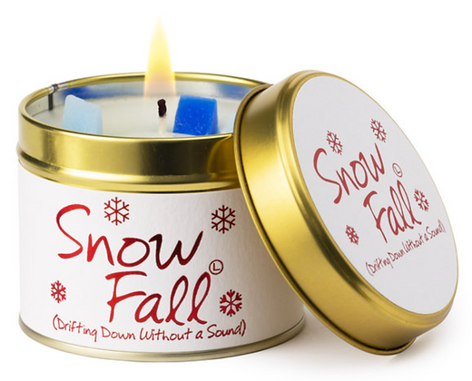 Snow Fall Lily Flame Candle