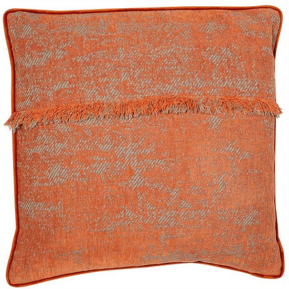 Fringed cushion Feather filled