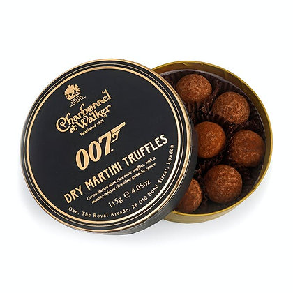 CHARBONNEL ET WALKER LTD 115G JAMES BOND 007 DRY MARTINI TRUFFLES CHOCOLATE