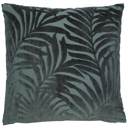 Devore palm print feather filled cushion