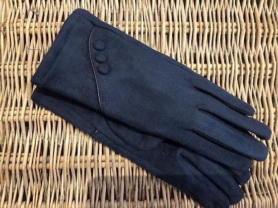 Button Detail Glove - NAVY