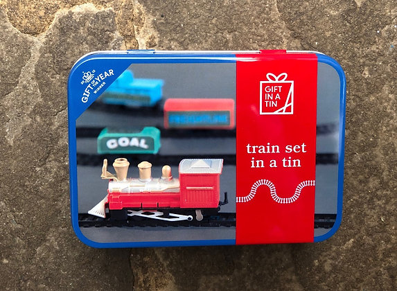 APPLES TO PEARS Train Set In A Tin