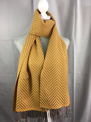 Tassel Stripes Scarf-String End