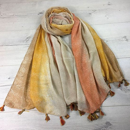Ombre Scarf With Tassels
