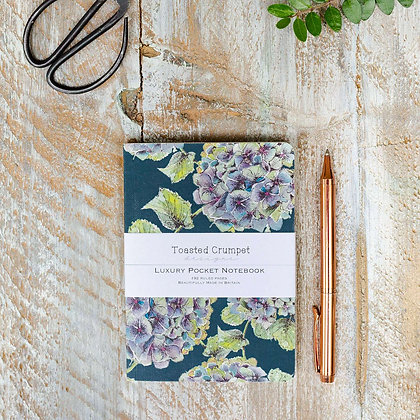 Hydrangea Noir A6 Lined Pocket Notebook