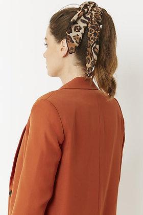 Silk Blend Hair Scarf - LEOPARD PRINT