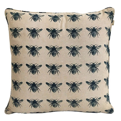Honey Bee Cushion PRUSSIAN BLUE