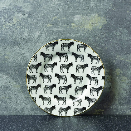 CANDLELIGHT Plate With Zebra Print