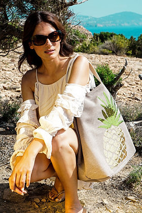 POWDER Boho Pineapple Bag- Stone