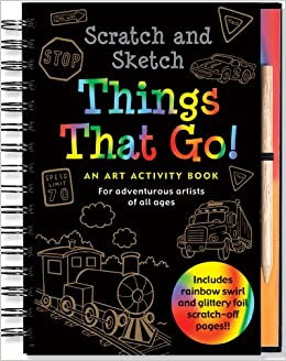 Things That Go! Scratch And Sketch