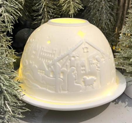 Nativity Tea Light Candle Holder