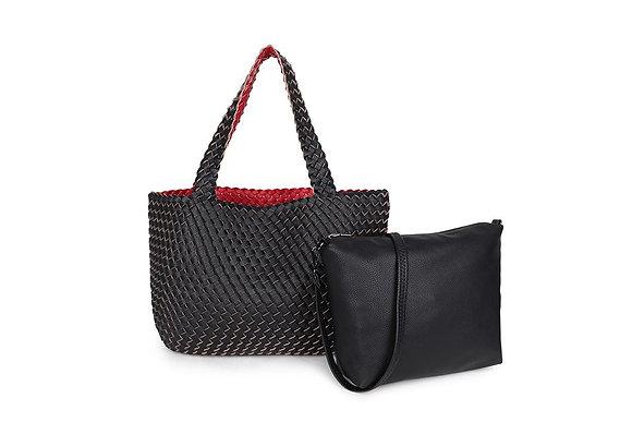 BLACK/RED 3 in 1 Stylish Shopper