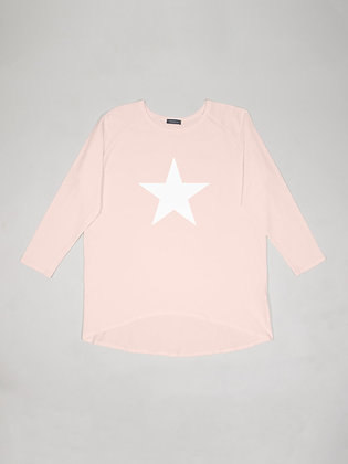 CHALK Robyn Top  PINK WITH WHITE STAR