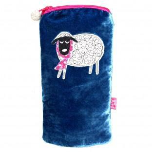 Winter Sheep Glasses Purse - BLUE