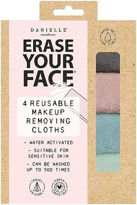 DANIELLE Erase Your Face Reusable Face Cloth Four Pack