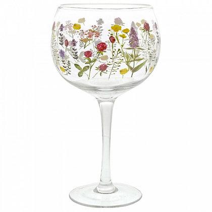 Gin Copa Glass- Wild Flowers
