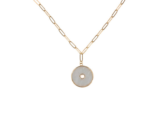BIG METAL Perdita Delicate Shell Geo Necklace